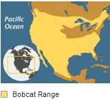 Bobcat range map from Nat'l Geographic